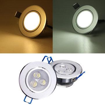 3W luminoso dimmerabile LED da incasso a soffitto giù luce 85-265v