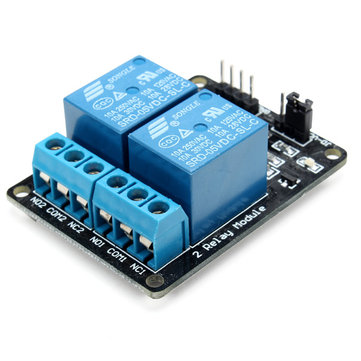 10Pcs DC5V 2 Way 2CH Channel Relay Module With Optocoupler Protection