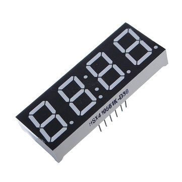 10Pcs 7-Segment 0.56 Inch 4 Digit 12 Pins Red LED Display For Arduino