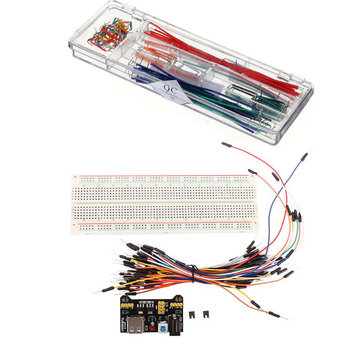 MB-102 Breadboard + Power Supply + 140pcs Jumper Cable Dupont Wire Kits