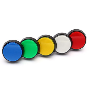5 Colors LED Light 60MM Arcade Video Game Player Push Button Switch