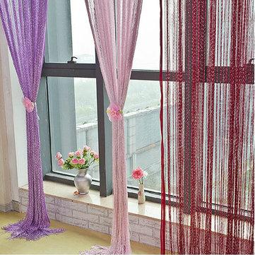 Brillo línea de cadena de la borla de la decoración mampara cortina de ventana de la puerta