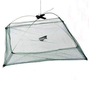 Practical Fishing Foldable Mesh Baits Trap Umbrella Cast Dip Net Crab Shrim CSMH