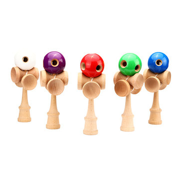 Children Kids 5 Holes Kendama Toy Ball Traditional Game Skill Toys
