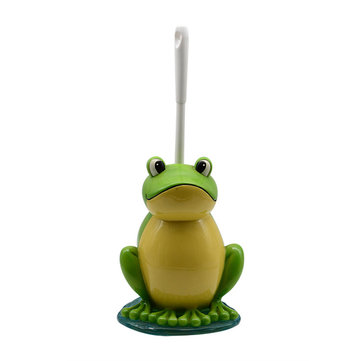 Frog Toilet Cleaning Brushes And Stand Holder And Stand Holder Set Cleaner Resin Home Hotel