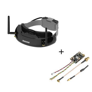 Eachine EV200D 1280*720 5.8G 72CH True Diversity FPV Goggles+Eachine TX805 5.8G 40CH 25/200/600/800mW FPV Transmitter TX LED Display SMA Female