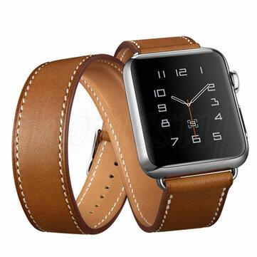 Ekte skinnbøylebåndsbytte erstatning for Apple Watch serien 1 42mm