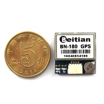 Beitian Smallest Mini Dual GLONASS+GPS BN-180 Micro Double GPS Antenna Module UART TTL For CC3D F3 RC Drone Airplane