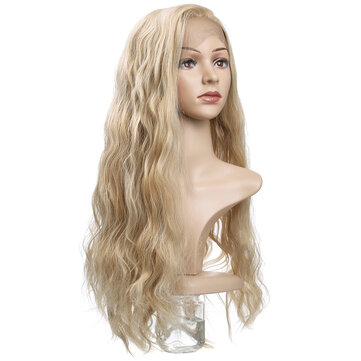 Charming Fluffy Curly Hair Wig High-Temperature Fiber Natural Long Hair Full Wigs Flaxen for sale in Bitcoin, Litecoin, Ethereum, Bitcoin Cash with the best price and Free Shipping on Gipsybee.com