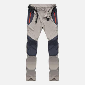 Mens Outdoor Breathable Quick Drying Environmental Elastic Climbing Sport Pants