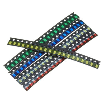 100Pcs 5 Colors 20 Each 1206 LED Diode Assortment SMD LED Diode Kit Green/RED/White/Blue/Yellow