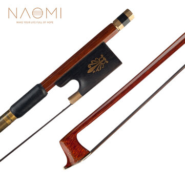 Buy NAOMI 4/4 Violin Bow Brazilwood Stick with Ebony Frog Sheep Skin Grip Black Horsehair Violin Parts Accessories with 0 on Gipsybee.com