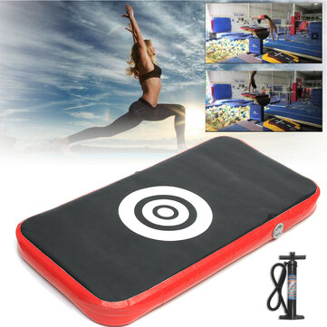 47x35x2inch Inflatable Gymnastics Mat Air Track Floor Home Tumbling Gym Mat with Pump