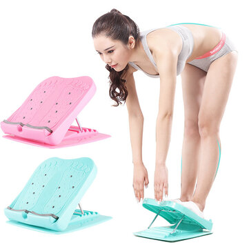 Folding Stool Foot Massage Pedal Stretch Standing Board Stand-Up Leg Slimming Stretcher Fitness Pedals