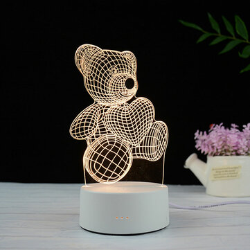 3D LED Table Kid Night Light Lamp 16 Color USB Bedroom Child Gift Remote Control