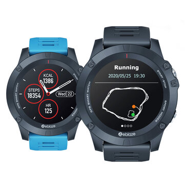Zeblaze VIBE 3 GPS 1.3 Full round Touch Screen Built in GPS+GLONASS Dual Mode Positioning Multi sport Mode 24 hour Heart Rate Blood Pressure O2 Monitor Weather Display Smart Watch