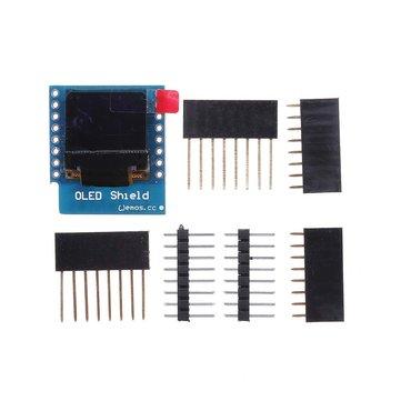 3Pcs Wemos® 0.66 Inch OLED Shield For WeMos D1 Mini 64X48 IIC I2C Compatible