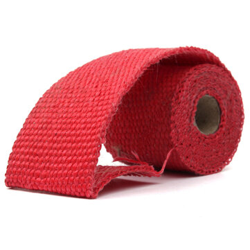 1.52cm Exhaust Header Pipe Wrap Shields Turbo Heat Manifold Header Insulation Red