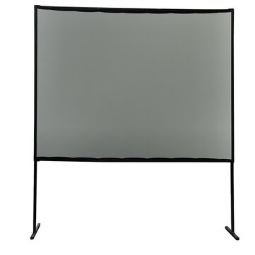 Projector Screen With Stand 100 Inch PVC Gray Soft HD 16:9 Portable Tripod Projector Movie Curtain Real Front Multifunction For Indoor Outdoor Entertainment Home Theater With Carry Bag