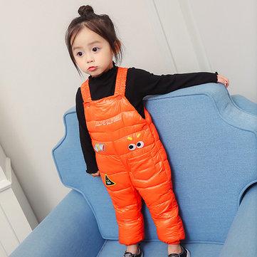 Lindo bebé niños sin mangas estampado algodón acolchado invierno Mono