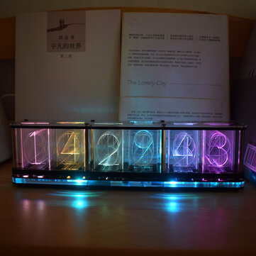 How can I buy Geekcreit Imitate Glow Clock Full Color RGB Glow Tube Clock LED Music Spectrum Kit with Bitcoin