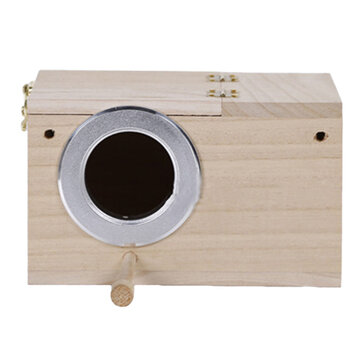 Nest Box Bird House Budgie Wood Breeding Rack for Outdoor Container
