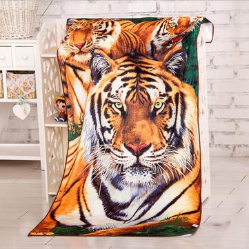 60x120cm Absorbent Microfiber Animal Tiger Print Beach Towels Soft Quick Dry Bath Towel