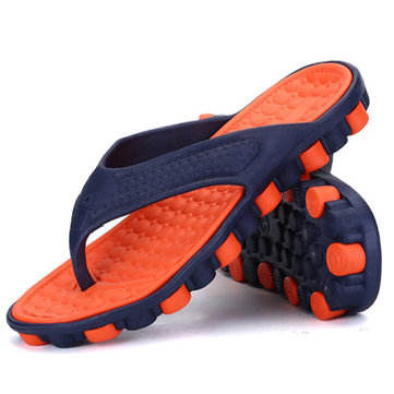 NIS Men's Casual Sports Slippers Non-Slip Breathable Beach Bath Sandals Soft Flat Slippers
