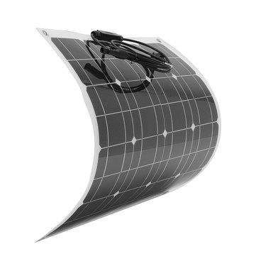Elfeland® EL-03 50W 12V 560 * 540mm Panneau solaire semi-flexible pour boîte de jonction avant avec câble pour bateau de camping-car