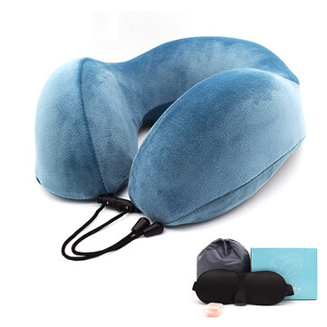 Memory Cotton U-shaped Pillow Cervical Pillow Travel Portable Nap Pillow Neck Pillow