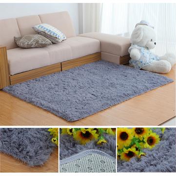 Phòng ngủ 80x160cm Phòng khách Soft Thảm chống trượt Shaggy Thảm thấm