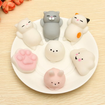 Cat Kitten Squishy Squeeze Cute Healing Toy Kawaii Collection Stress Reliever Gift Decor