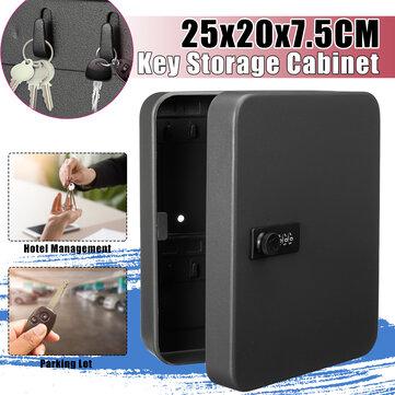 Lock Metal Key Storage Cabinet Wall Mounted Lockable Safe Box Combination Case