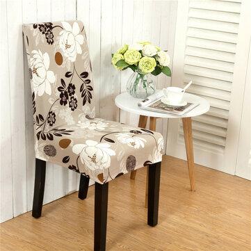 Honana WX-915 Capa de assento de cadeira de estiramento elástico elegante para paisagem de flores Sala de jantar Decoração de casamento em casa