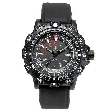 WAITIME™ 8015 Military Luminous Display Men Wrist Watch Silicone Strap Quartz Watch