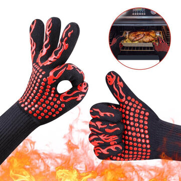 BBQ Flame Retardant Anti-slip Insulation Waterproof Oil And Cold Protection Heat Preservation Cooking Gloves