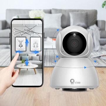 Xiaovv Q8 HD 1080P 360° Panoramic IP Camera Onvif Support Infrared Night Vision AI Mo_tion Detection Machine Panoramic Camera