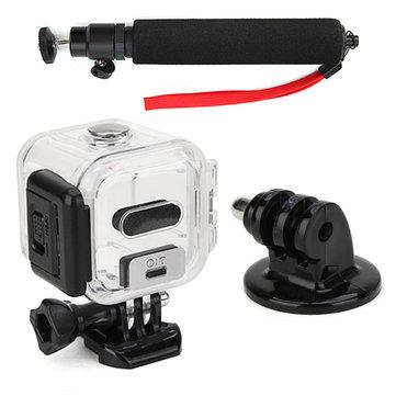 Protetive 45mm caja de la cubierta impermeable y selfie monopie palo y trípode adaptador de montaje con correa roja para ir