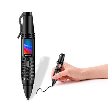 SERVO K07 0.96inch 300mAh bluetooth Dialer Recording Pen Handwriting Pen Flashlight Camera Dual SIM Mini Card phone