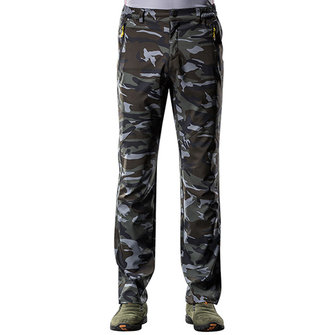 पुरुषों छद्म आकस्मिक आउटडोअर स्पोर्ट-पैंट निविड़ अंधकार त्वरित सुखाने चढ़ाई पैंट