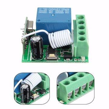 DC12V 10A 1CH 433MHz Wireless Relay RF Remote Control Switch Receiver