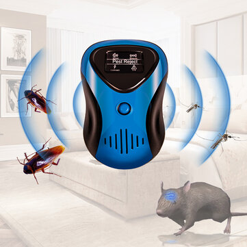 Ultrasonic 4 Modes Adjustable Electronic Mosquito Repellent Plug-in Indoor Pest Rats Mice Cockroaches Spider Pest Repeller