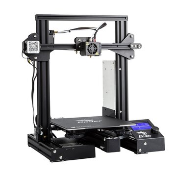 Creality 3D� Ender-3 Pro V-slot Prusa I3 DIY 3D Printer 220x220x250mm Printing Size With Magnetic Removable Platform Sticker/Power Resume Function/Off-line Print/Patent MK10 Extruder/Simple Leveling
