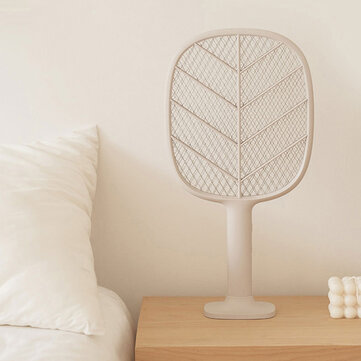 Solove Electric Mosquito Swatter 3-Layer Net USB Rechargable Insect Bug Fly Mosquito Killer with Stander Safty Lock for Children Protection from Xiaomi Youpin