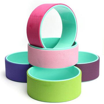 Yoga Wheel TPE Foam Roller Tube Physio Gym Back Massage Waist Shape Manual Massager