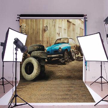 3x5ft Car Tire Garage Retro Photo Backdrop Photography Background Studio Props