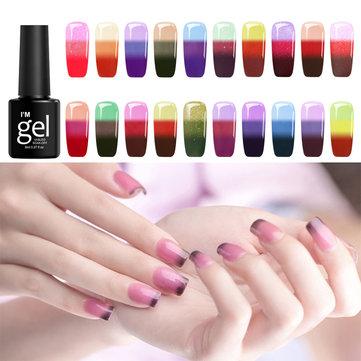 24 färger Temperaturfärger Ändra avblöt UV Nail Gel Polish DIY Nail Art