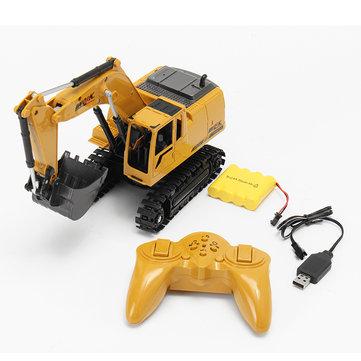 AO HAI 1/24 2.4Ghz 8CH Fundido a troquel Control remoto Excavadora Ingeniero Camión Coche Juguetes