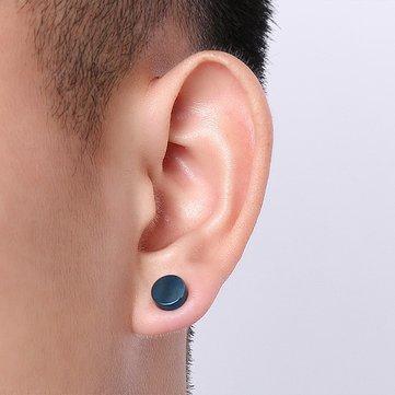 Punk từ không có khuyên tai bông tai nam thép không gỉ Clip tròn trên bông tai stud cho nam giới