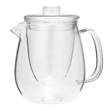 600ml Tahan Panas Bersih Kaca Coffee Tea Pot Daun Dengan Strainer Filter Infuser
